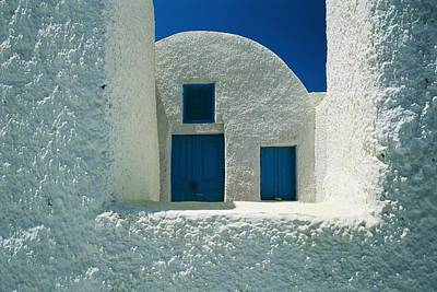 Slavic Photograph - Detail View Of The White Walls And Blue by Todd Gipstein