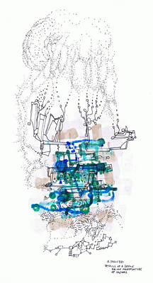 Drawing - Details Of A Device For The Manufacture Of Dreams by Regina Valluzzi