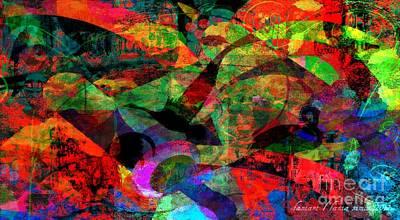 Visionary Art Display Digital Art - Details On Birds by Fania Simon