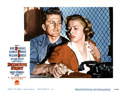 Films By William Wyler Photograph - Detective Story, Kirk Douglas, Eleanor by Everett