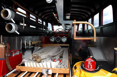 Photograph - Detroit Fire Truck by LeeAnn McLaneGoetz McLaneGoetzStudioLLCcom