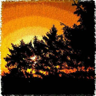 Impressionism Photograph - Detroit Sunrise Impressionist Art by Fotochoice Photography