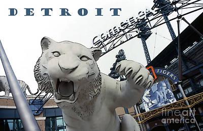 Detroit Tigers I Art Print by Linda  Parker