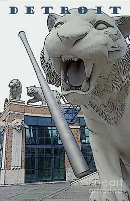 Detroit Tigers II Art Print by Linda  Parker