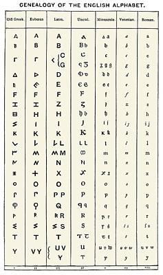 Development Of The English Alphabet Art Print by Sheila Terry