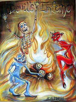 Devil's Inferno Art Print by Heather Calderon