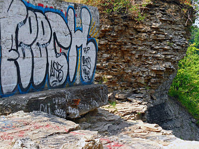 Photograph - Devils Punch Bowl Grafitti 2 by Cyryn Fyrcyd
