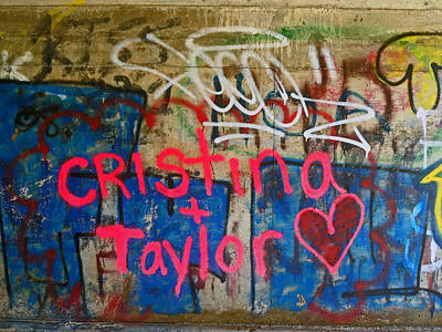 Photograph - Devils Punch Bowl Grafitti 7 by Cyryn Fyrcyd