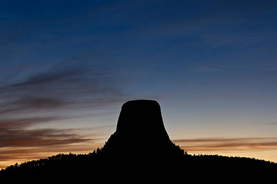 Devils Tower Photograph - Devils Tower Wyoming by Steve Gadomski