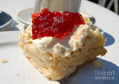 Strawberry Jam Photograph - Devonshire Cream Tea by Rob Hawkins