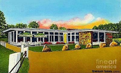 Painting - Dewey Mills Restaurant In Quechee Vt 1950's by Dwight Goss