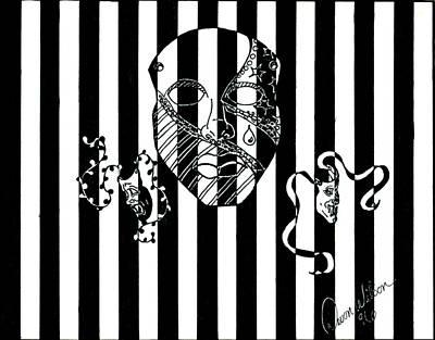 Devon Mixed Media - Dew's Masks by Devon Wilson
