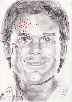 Dexter Drawing - Dexter Morgan by Annie GODET