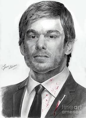 Dexter Drawing - Dexter Morgan by Erin Gibson