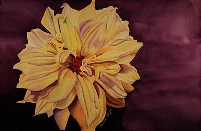 Art Print featuring the painting Dhalia by Teresa Beyer