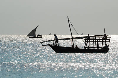 Photograph - Dhows by Alan Clifford