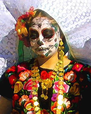 Photograph - Dia De Los Muertos Dancer 1 by Timothy Bulone
