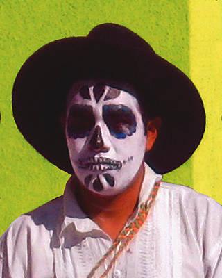 Digital Art - Dia De Los Muertos Dancer 2 by Timothy Bulone