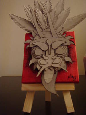 Cardboard Mixed Media - Diablico Susio by May Agurto