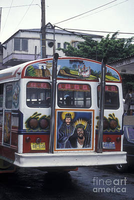 Pop Art Rights Managed Images - DIABLO ROJO BUS Panama City Royalty-Free Image by John  Mitchell