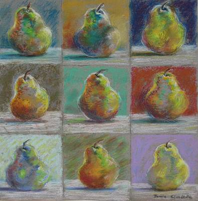 Art Print featuring the pastel  Pears by Bonnie Goedecke