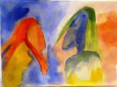 Painting - Dialogue 2 by Rooma Mehra