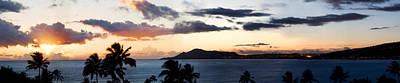 Ashlee Meyer Photograph - Diamond Head Sunset Panorama by Ashlee Meyer