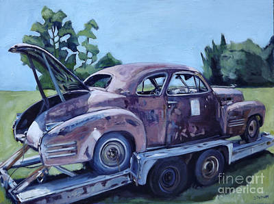 Cars Painting - Diamond In The Rough by Deb Putnam