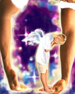 Diamond-meeks.angelic Art Print