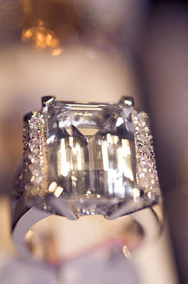 Platinum Photograph - Diamond Ring. Spirit Of Treasure by Jenny Rainbow