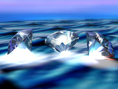 Diamonds, Computer Artwork Art Print