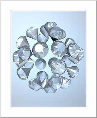 Art Print featuring the digital art Diamonds... by Tim Fillingim