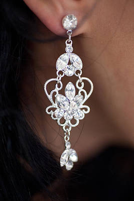 Photograph - Diamonte Ear Bling by Carole Hinding