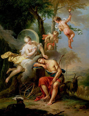 Diana And Endymion Art Print by Frans Christoph Janneck