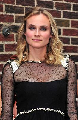 At Talk Show Appearance Photograph - Diane Kruger Wearing A Chanel Dress by Everett