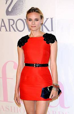 Alice Tully Hall At Lincoln Center Photograph - Diane Kruger Wearing A Jason Wu Dress by Everett