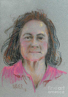 Pastel Portraits Painting - Dianne by Donald Maier