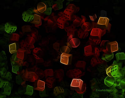 Digital Art - Dice And Letters by Ericamaxine Price