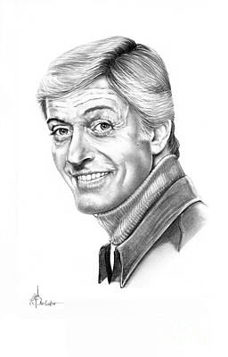 Famous People Drawing - Dick Van Dyke by Murphy Elliott