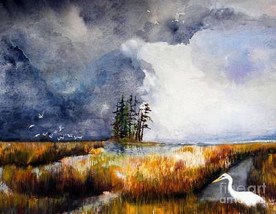 Painting - Dickerson Bay Marsh by Sibby S