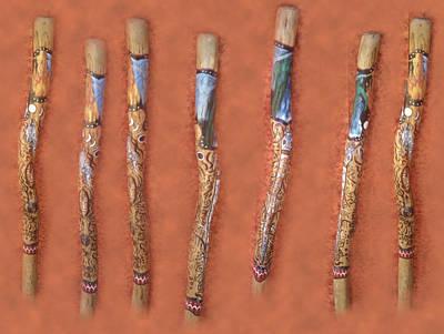 Didgeridoo Art Print by Janice T Keller-Kimball