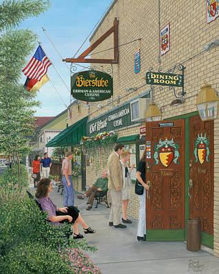 Kansas Oil Painting - Die Bierstube by Doug Kreuger