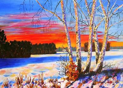 Karin Mueller Painting - die blauen Schatten by Karin Mueller