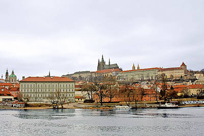 Vltava Photograph - Die Moldau - Prague by Christine Till