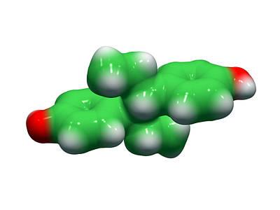 Miscarriage Photograph - Diethylstilbestrol Drug Molecule by Dr Tim Evans