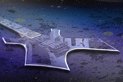 Digital-art E-guitar I Art Print by Melanie Viola