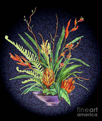 Digital Flowers Art Print