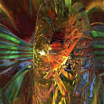 Reflexions Digital Art - Digital Highway by Erik Tanghe