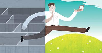 Digital Illustration Art Print by All images ? Tyler Garrison, 2009.