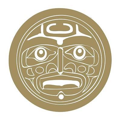 The Past Digital Art - Digital Illustration Of Alaskan Sun Mask Depicting The Spirit Raven by Dorling Kindersley